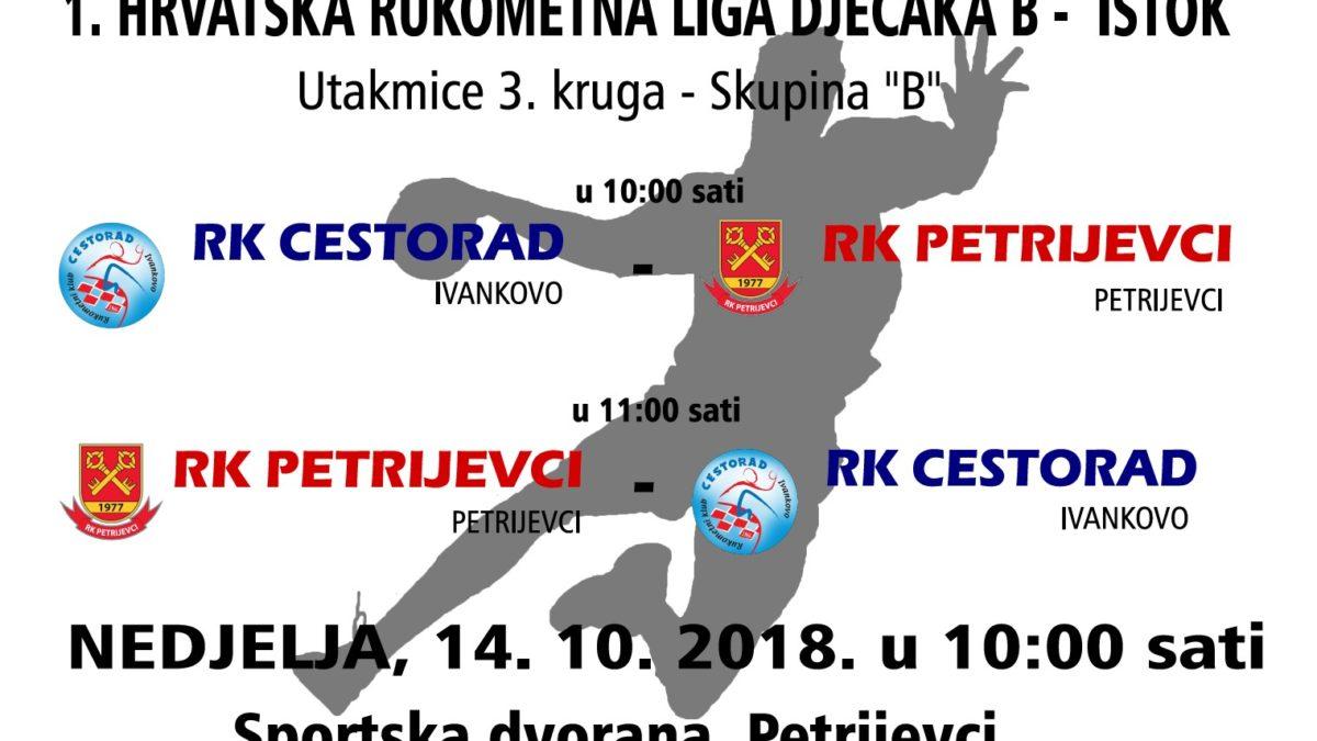 """UTAKMICE 3. KRUGA 1. HRLDB ISTOK – SKUPINA """"B"""" (NEDJELJA 14.10.2018. U 10:00 SATI)"""
