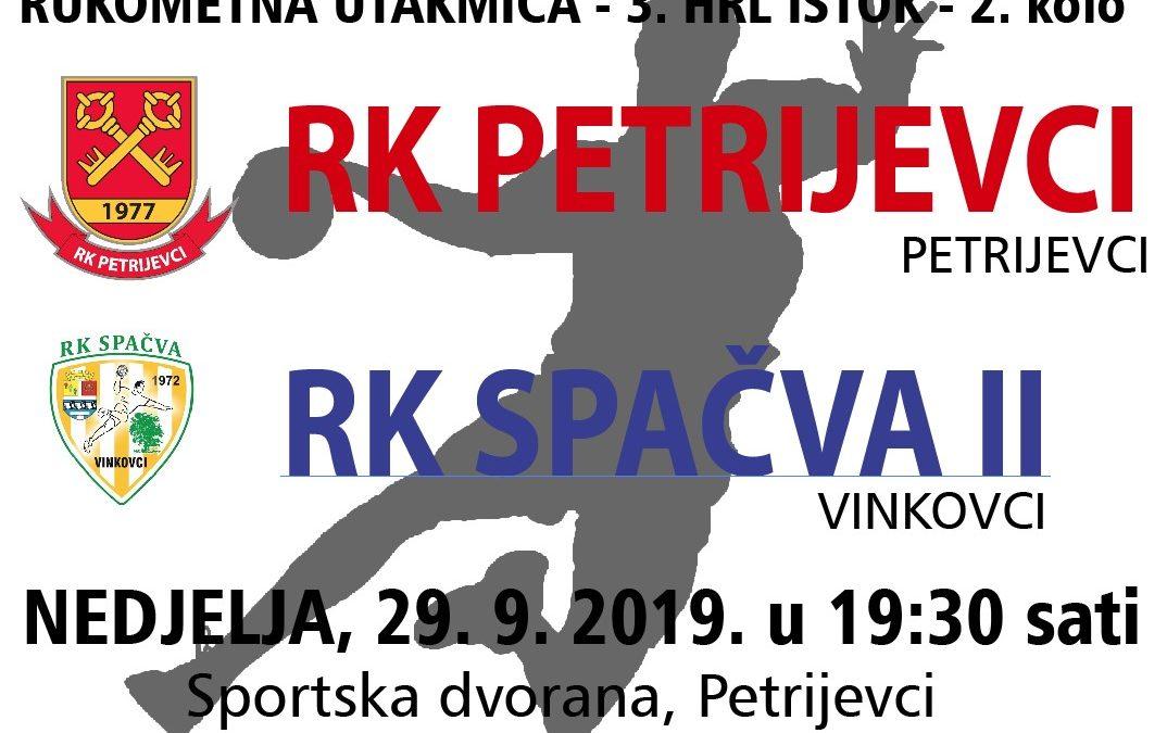 Petrijevci – Spačva II (Nedjelja, 29.9. 2019. u 19:30 sati)