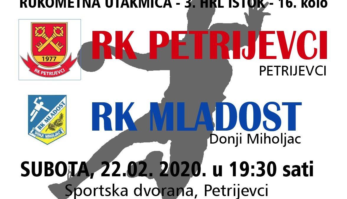 Petrijevci – Mladost (Subota, 22. 2. 2020. u 19:30 sati)